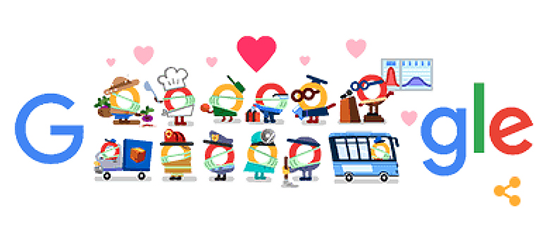 Thank you Coronavirus Helpers : Google Doodle: Thank You Coronavirus Helpers, Doodle …