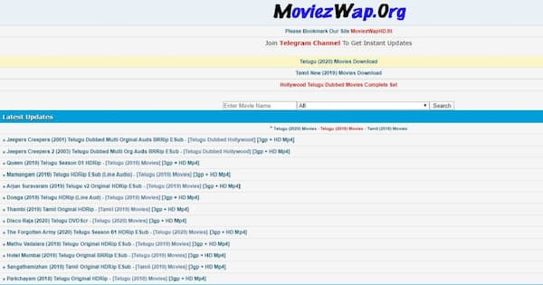Moviezwap Org Website To Download Tamil And Telugu HD Movies Free 2021